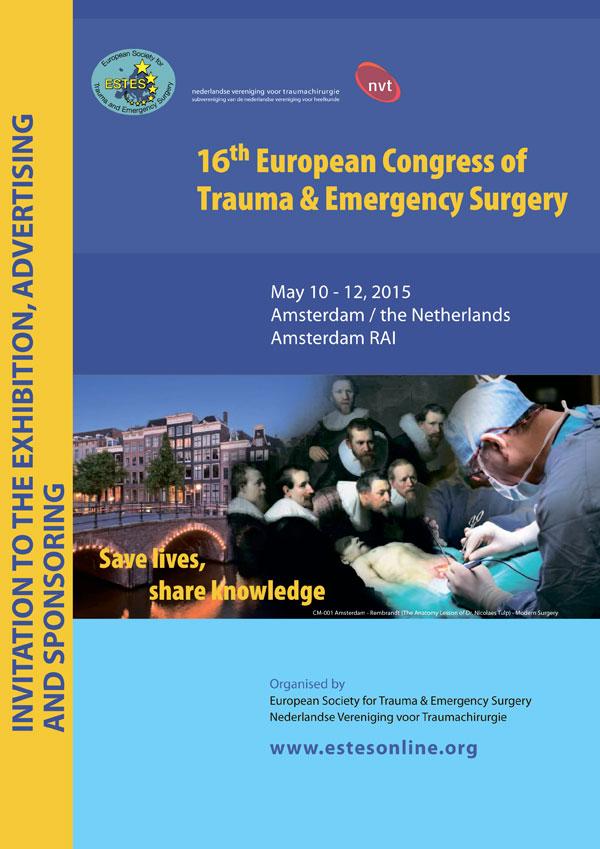 10-12 мая компания Tecres приняла участие в Европейском конгрессе травматологов и неотложной хирургии (ECTES), который состоялся в Амстердаме